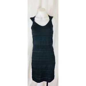 Cache sleeveless crochet black dress zipper 5127